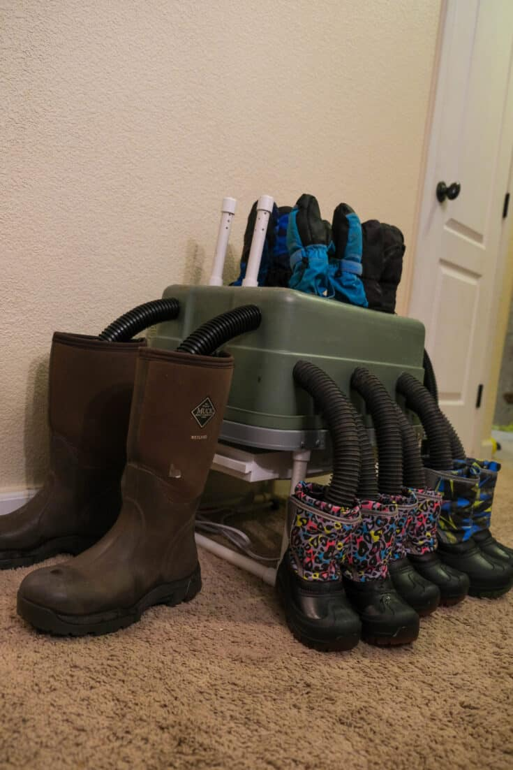 DIY Boot and Glove Dryer (for 5 people!)