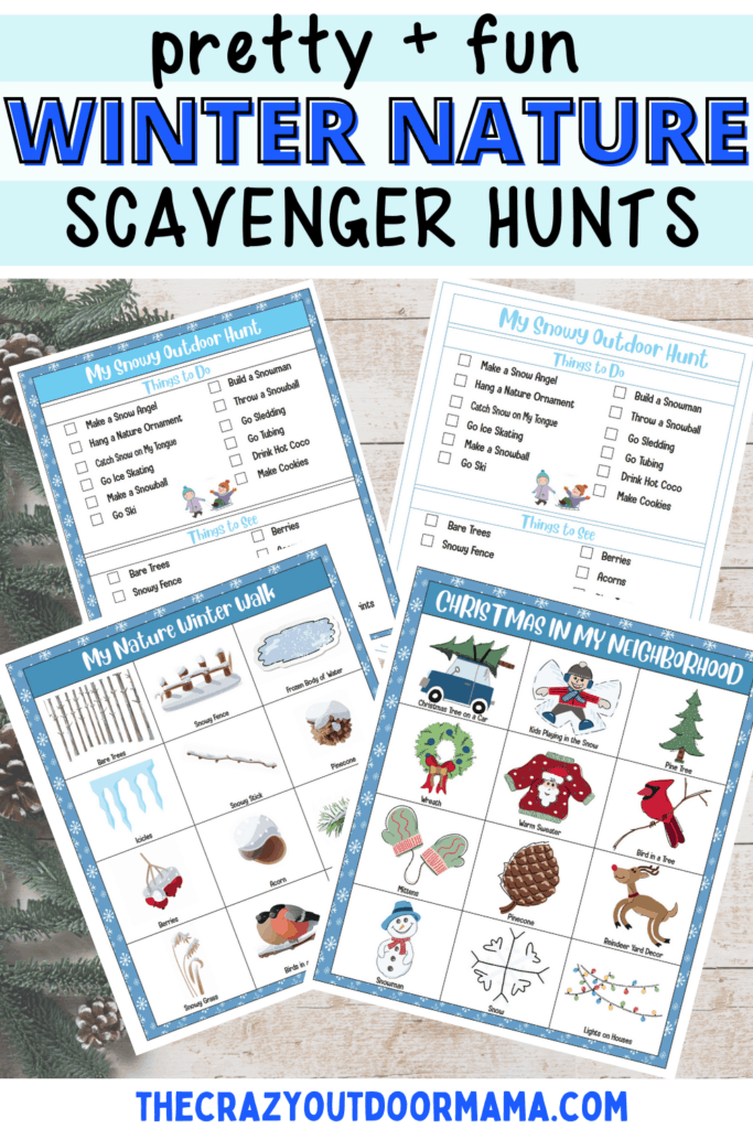 printable winter nature scavenger hunt for kids snow day bucket list