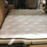 topper with straps for camper bed