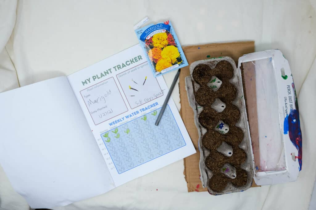 printable planting activity for kids