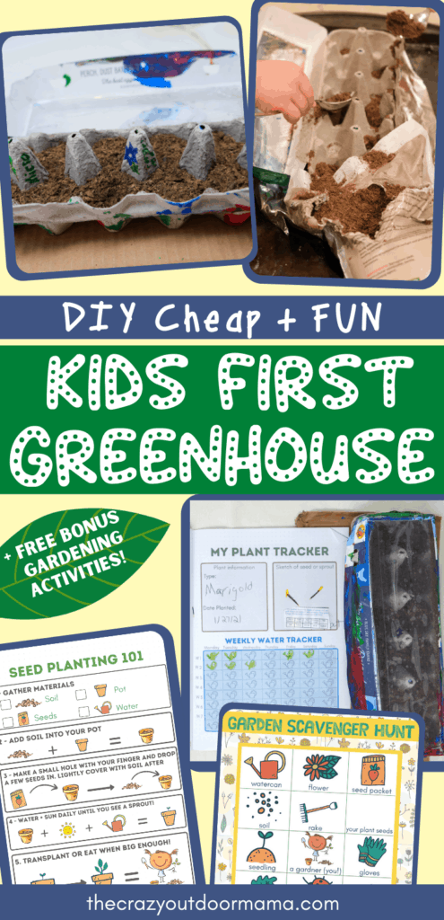 kids diy greenhouse with planting printable journal for kids
