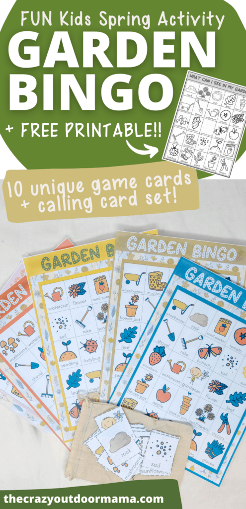 printable kids spring gardening activity plus free printable garden scavenger hunt