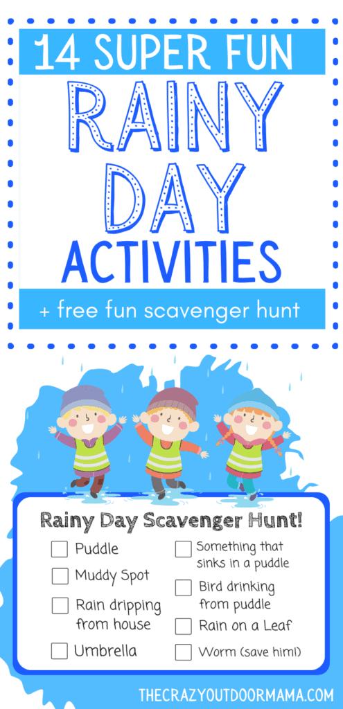 rainy day ideas for kids scavenger hunt