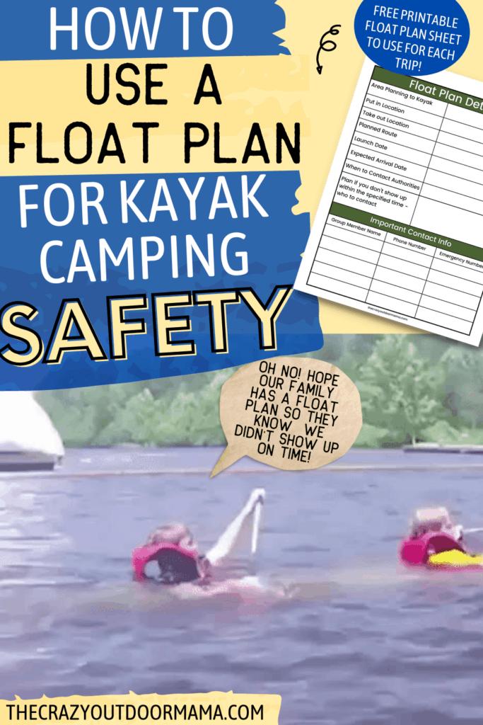 FREE PRINTABLE FLOAT PLAN FOR KAYAK CAMPING