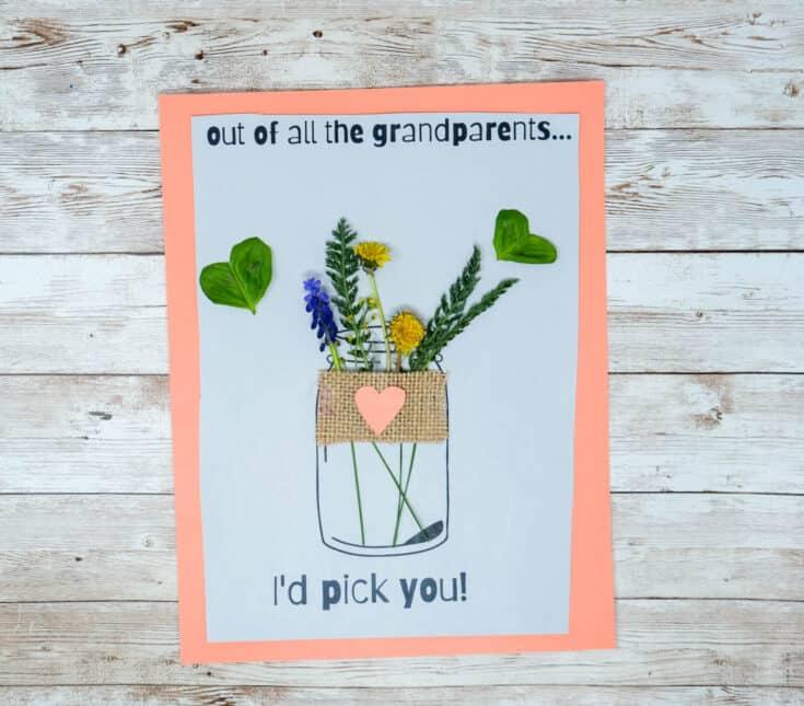 printable card for grandma with nature