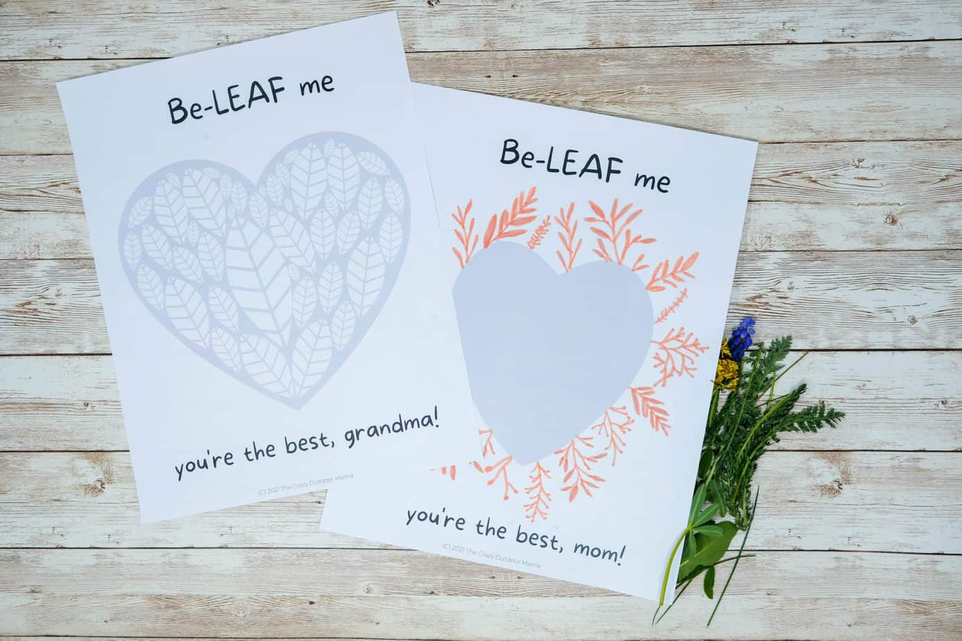 free nature mothers day printables