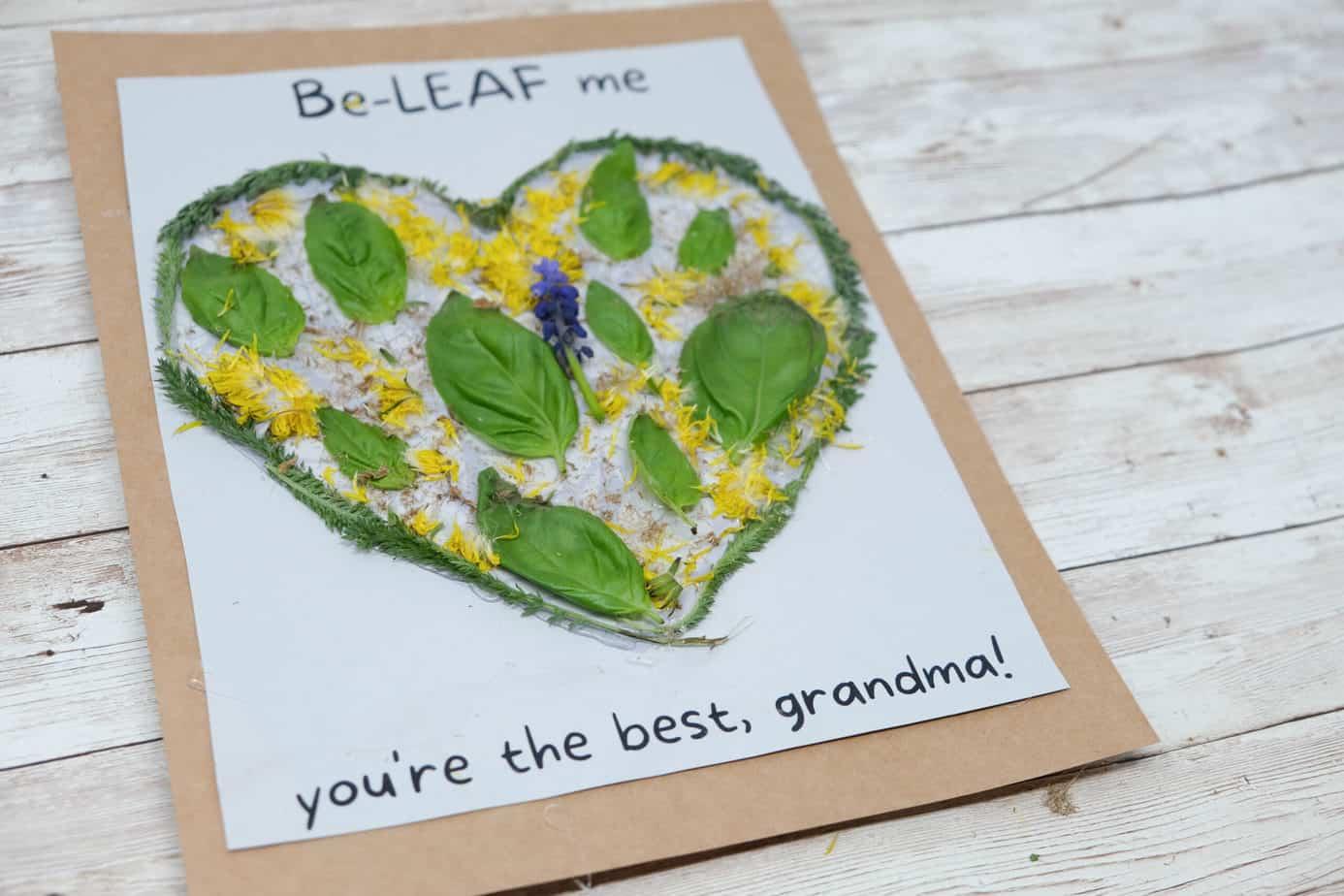 nature diy gift for mom or grandma