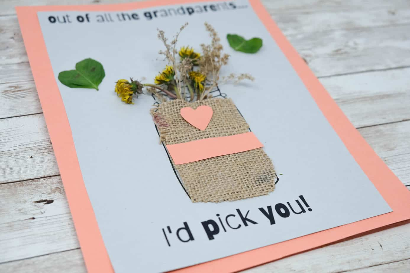 simple and cute craft for mom with nature items