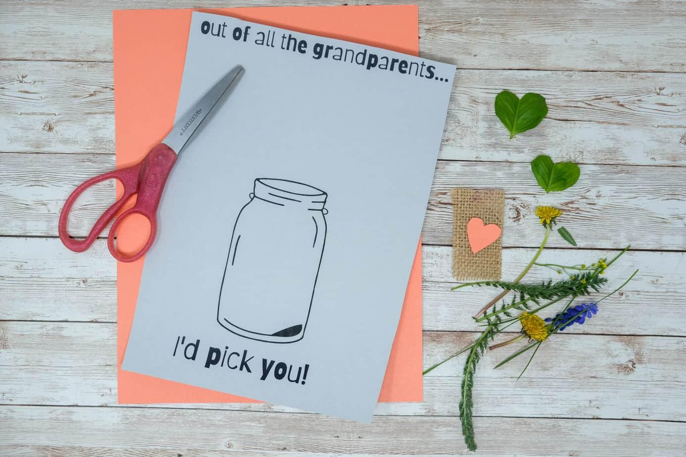nature craft for mom or grandma
