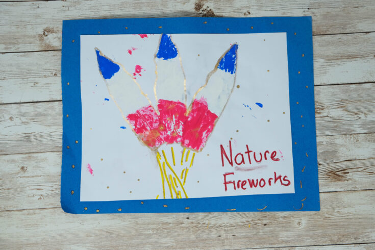4th of july outdoor nature based craft
