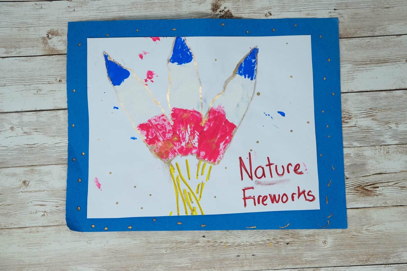 patriotic nature crafts fireworks