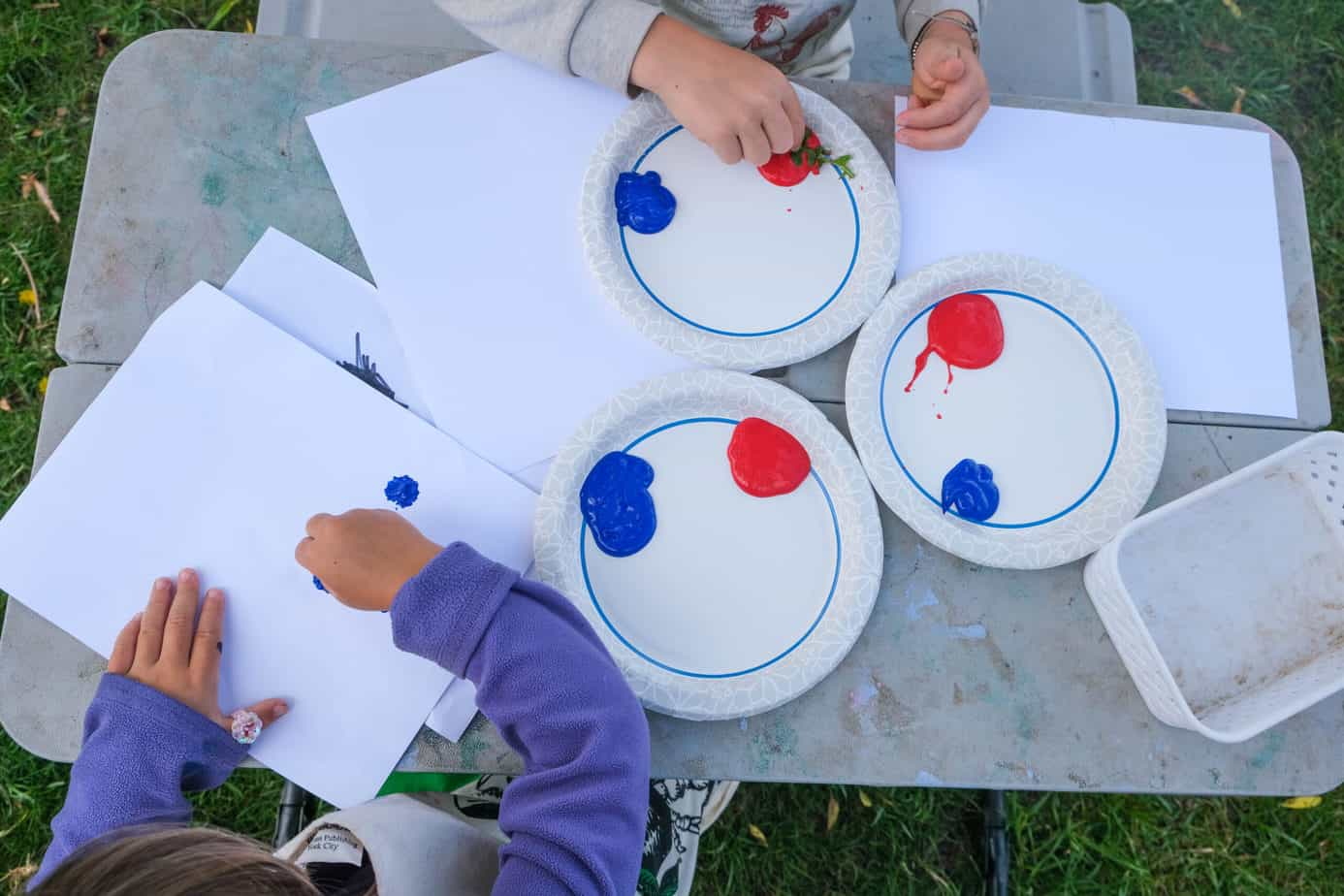 painting nature craft for 4th of july patriotic
