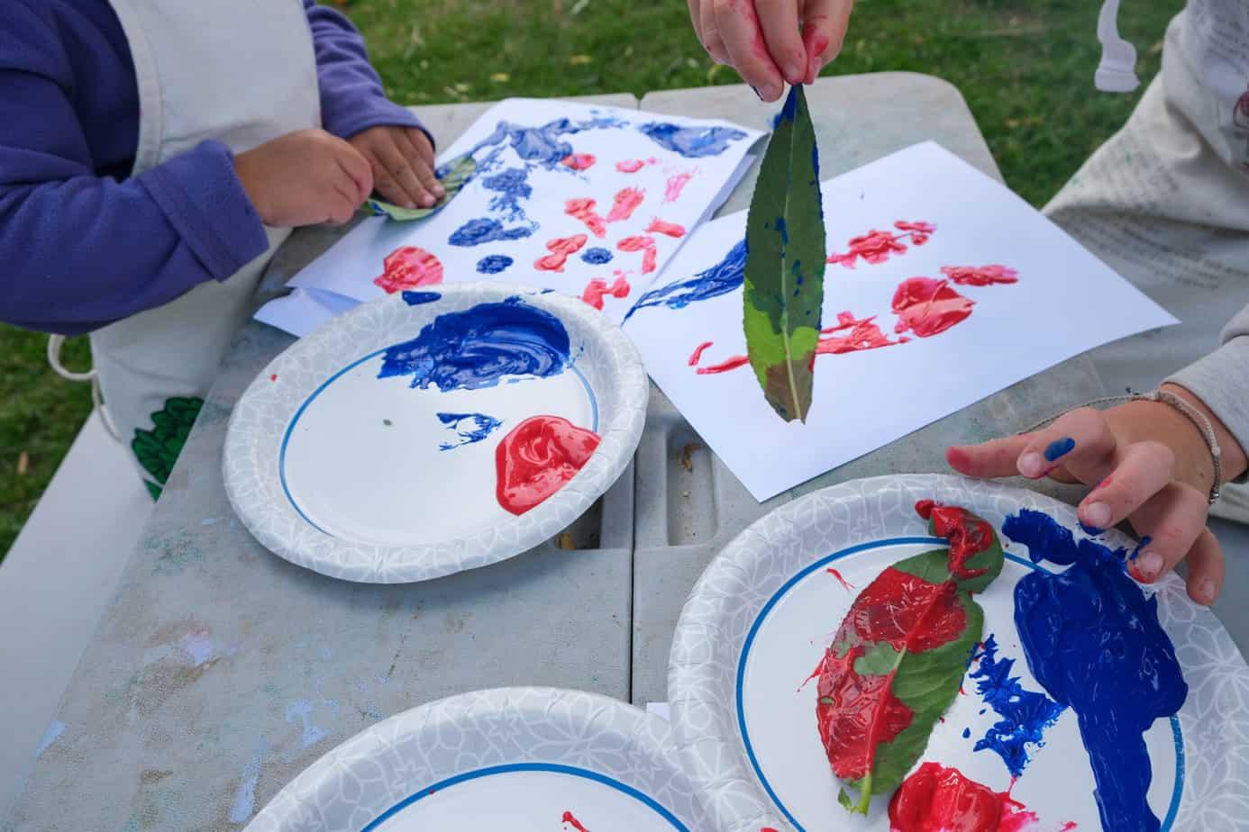 patriotic nature leaf crafts for kids