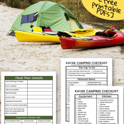 free checklists to get ready for first kayak camping trip