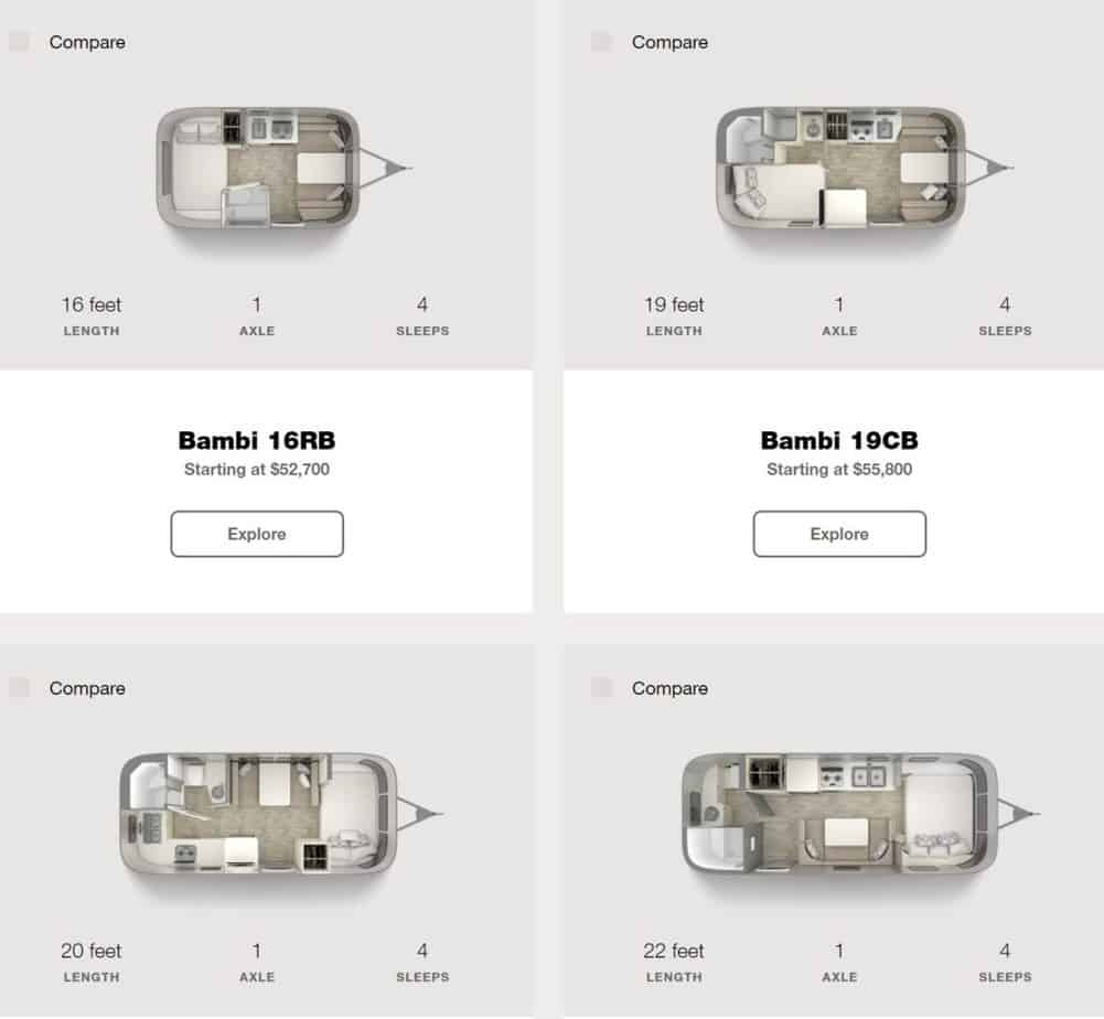 air stream bambi floor plan and sizes