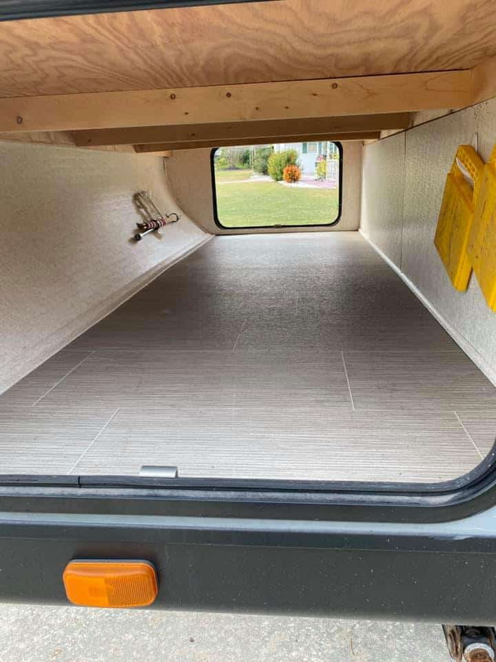 clear out storage compartment in camper
