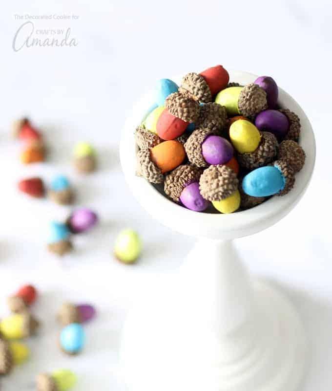 crafts using real acorns