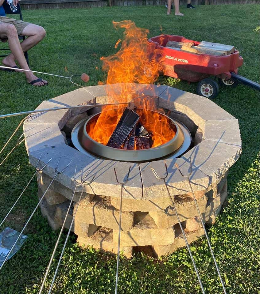 permanant fire ring around solo stove