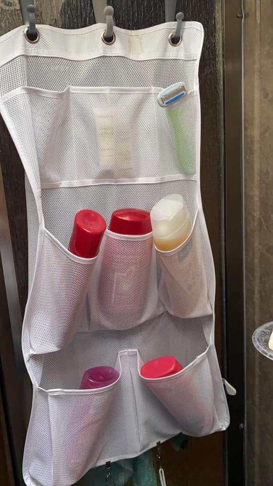 where to put shampoos in rv