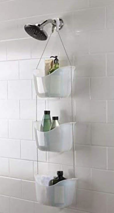 shower caddy with pretty buckets for rv design