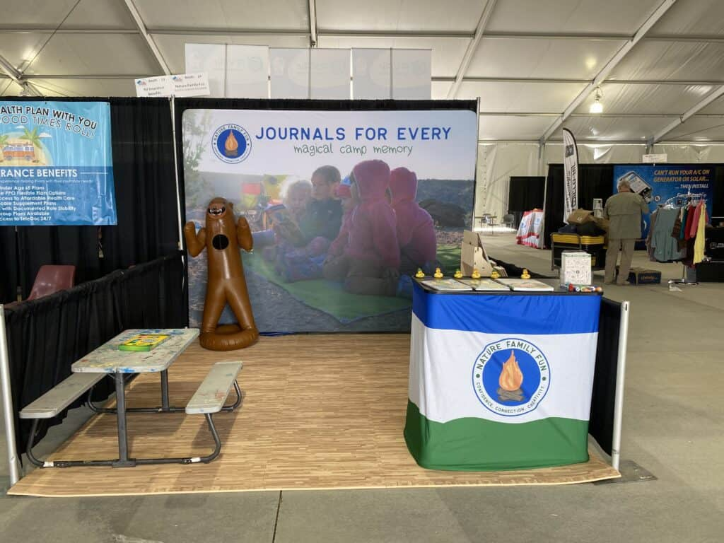 basic booth set up example for camping show