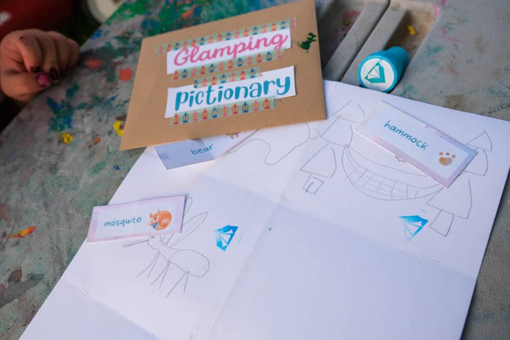 glamping pictionary for kids