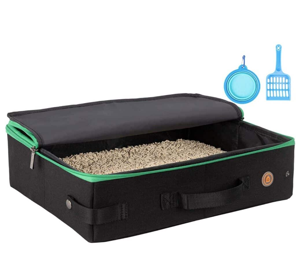 portable litter box for rv to keep smells and mess down