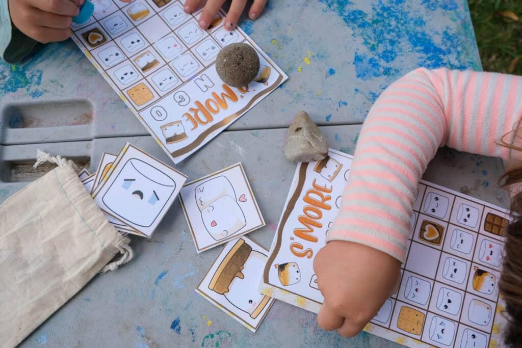 fun printable camping themed game for preschoolers camp week