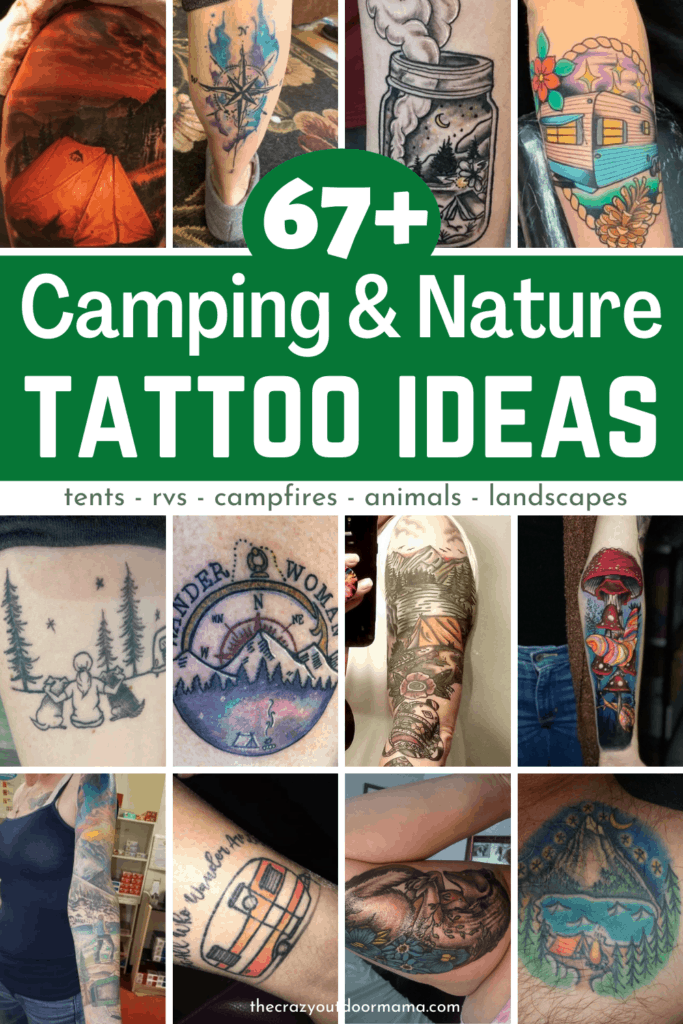 67 camping and nature tattoo ideas pinterest