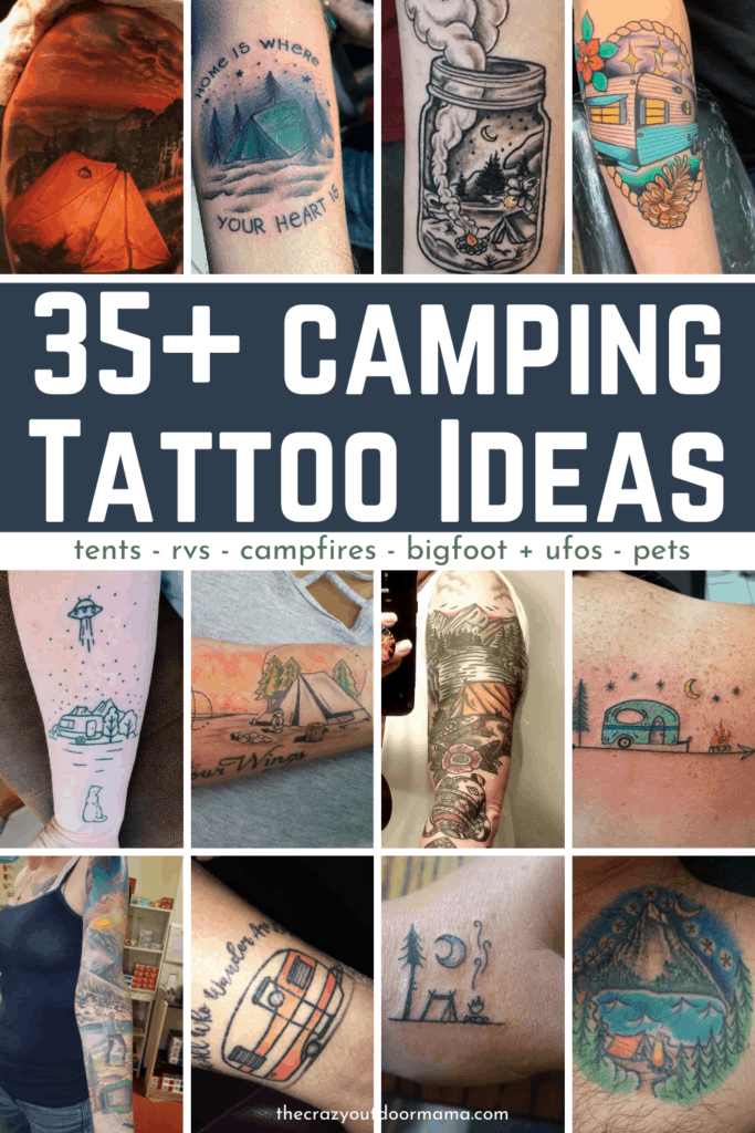 35 camping and tattoo ideas pinterest