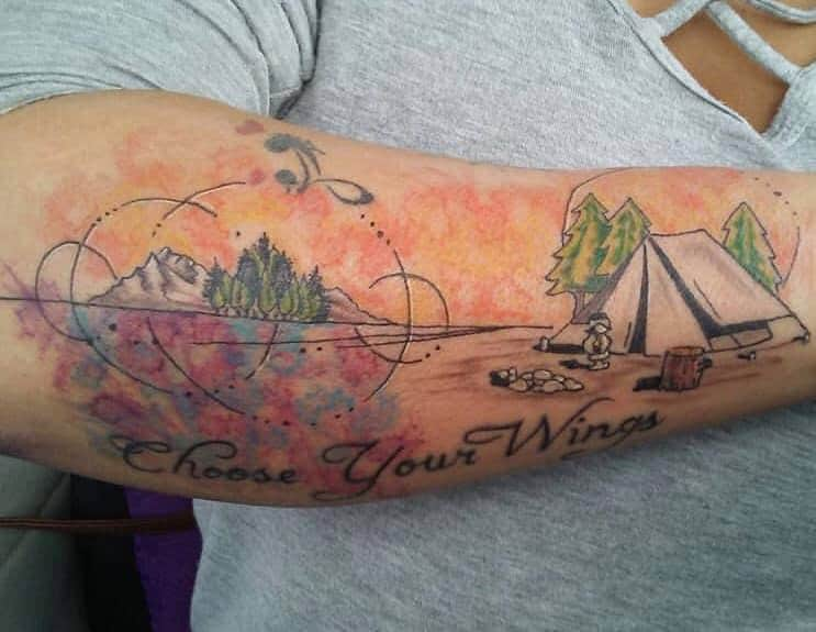 tent choose your wings tattoo