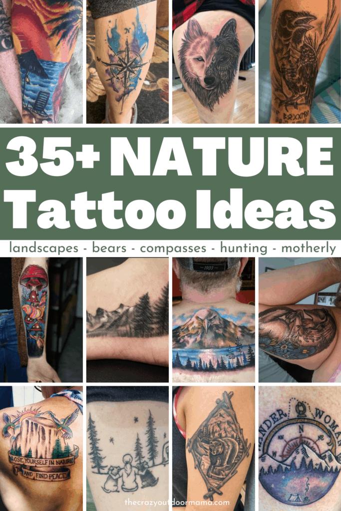 35 nature tattoo ideas pinterest
