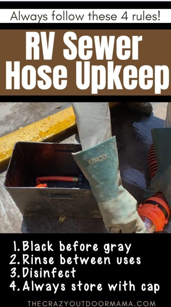rv sewer hose cleaning and storage ideas